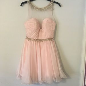 Elegant pink formal dress